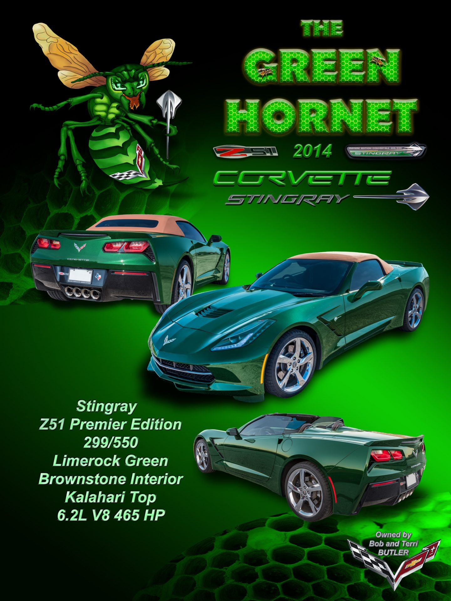 Green Hornet display board-2